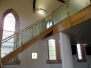 Staircases with glass balustrades