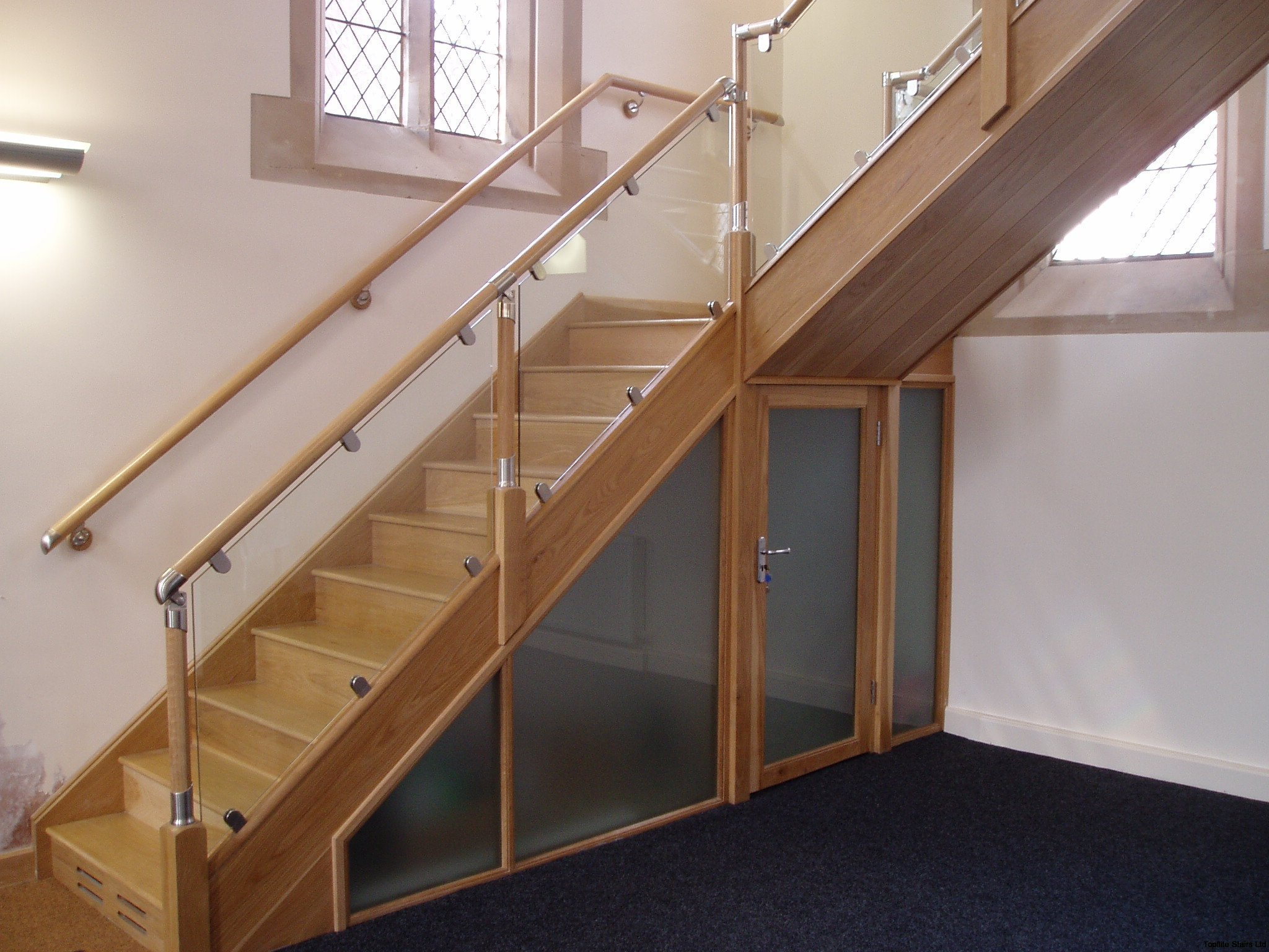 Glass Balustrade Staircase Gallery Topflite Stairs Ltd
