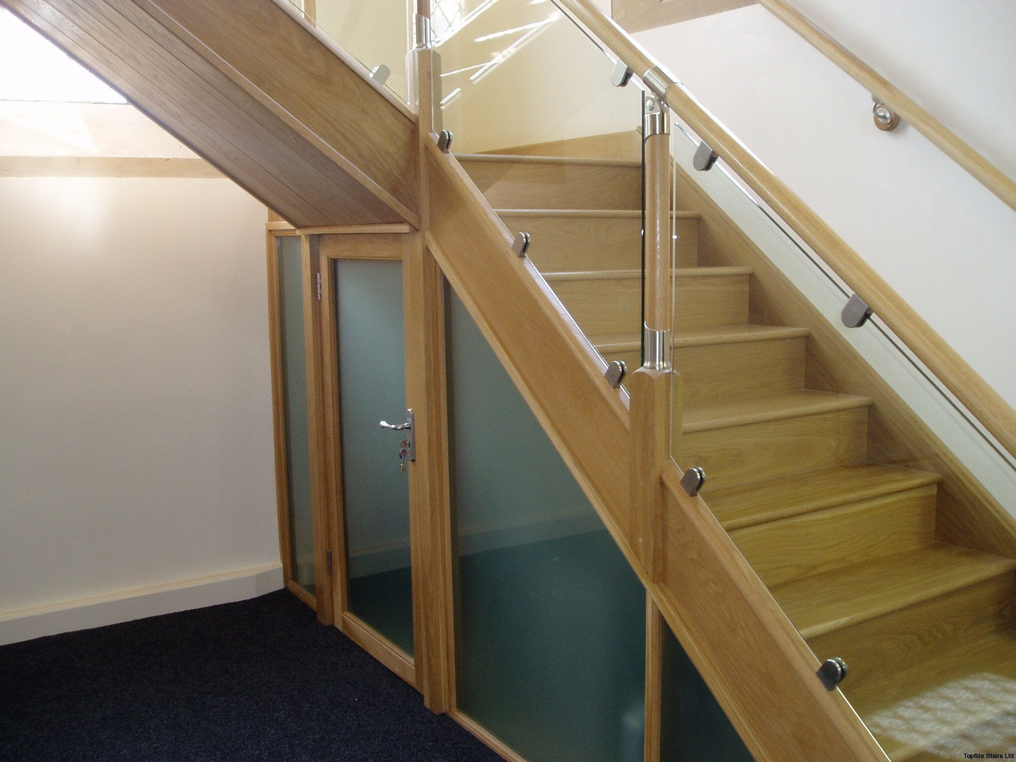Glass Balustrade Staircase Gallery Topflite Stairs Ltd