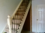 Staircases with metal balustrades