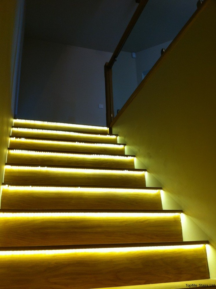Lighting Basement Washroom Stairs: Topflite Stairs Ltd