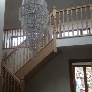 Solid Oak Stairs with Twist Spindle & Newels