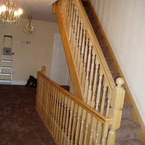 Oak Carpet Grade, with oxford fluted spindle