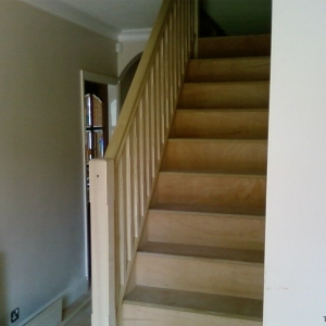 Ash carpet grade, with stop chamfered spindles